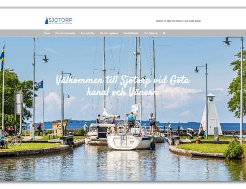 Sjötorp har fått ny hemsida