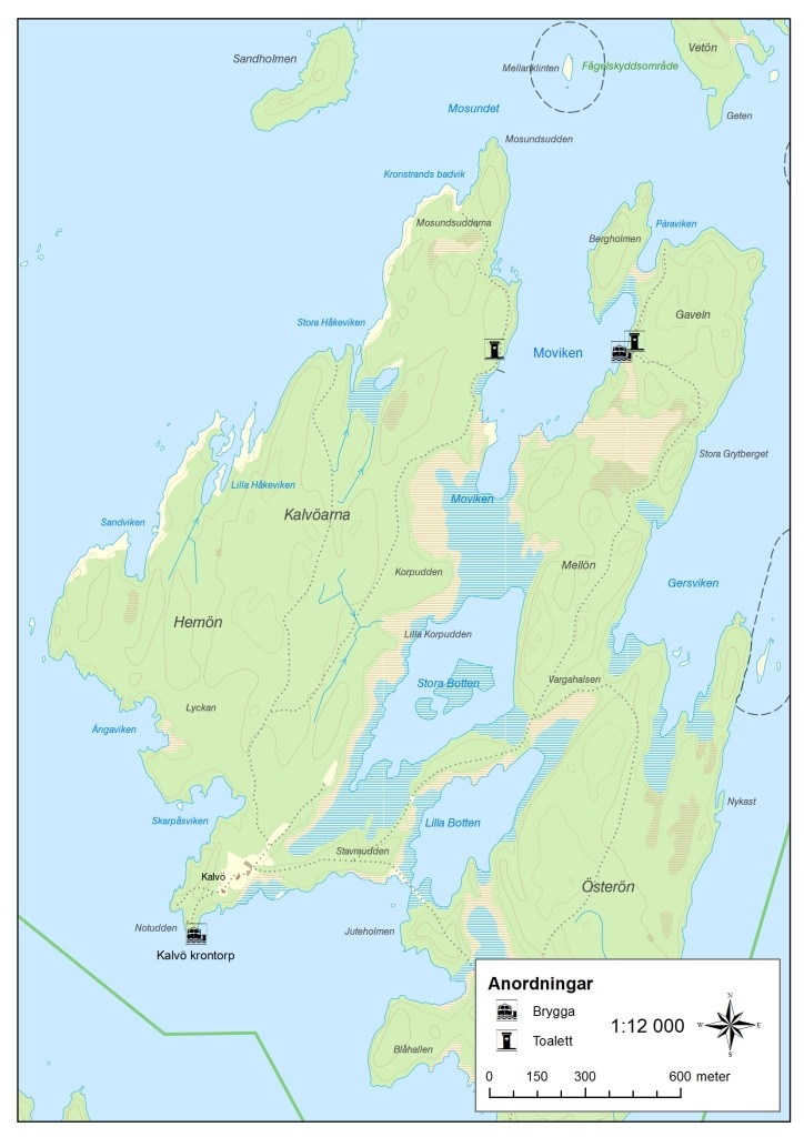 Kalvöarna karta